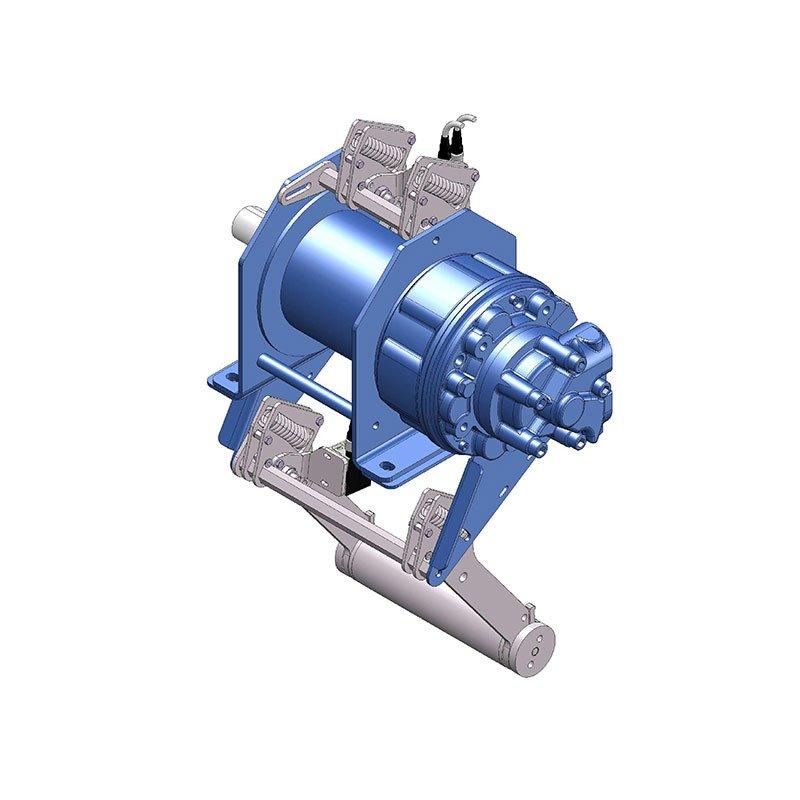 Konstruktions-Beispiel für eine hydraulische Zugwinde des Herstellers Dromec
