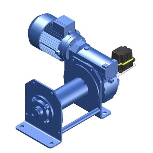 Zeichnung einer elektrischen Hubwinde des Modells EWH-900