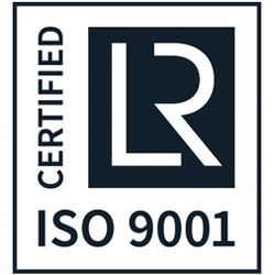 Logo der ISO 9001:2015 Zertifizierung durch Lloyd´s