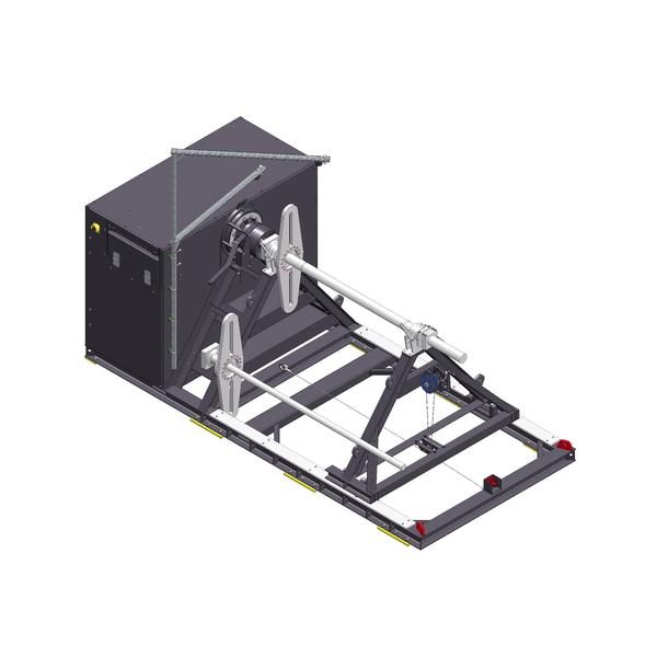 Zeichnung einer elektrischen Seil-Wickelmaschine EPW-300-150