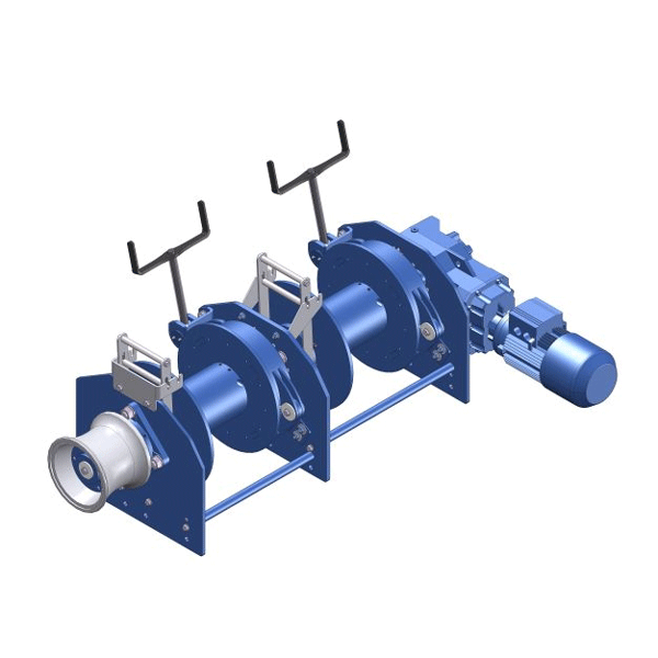 Zeichnung einer elektrischen Ankerwinde ECA-1300-KB mit Doppeltrommel
