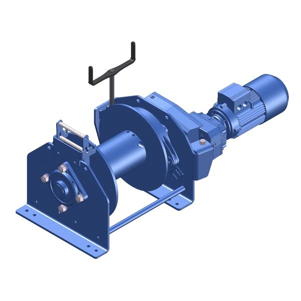 Zeichnung einer elektrischen Ankerwinde ECA-2000-KB