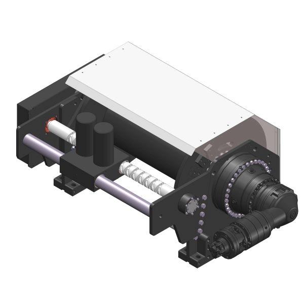 Zeichnung einer hydraulischen Ankerwinde HPA-10000-O für die Fischerei