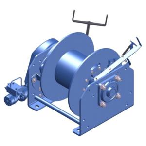 Zeichnung einer hydraulischen Ankerwinde HPA-3000-KB