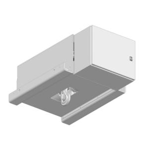 Zeichnung einer elektrischen Edelstahl-Gurtwinde EWB-2000 für Reinräume