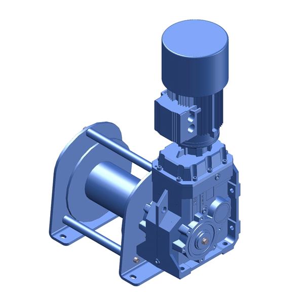 Zeichnung einer elektrischen Hubwinde ECH-1500