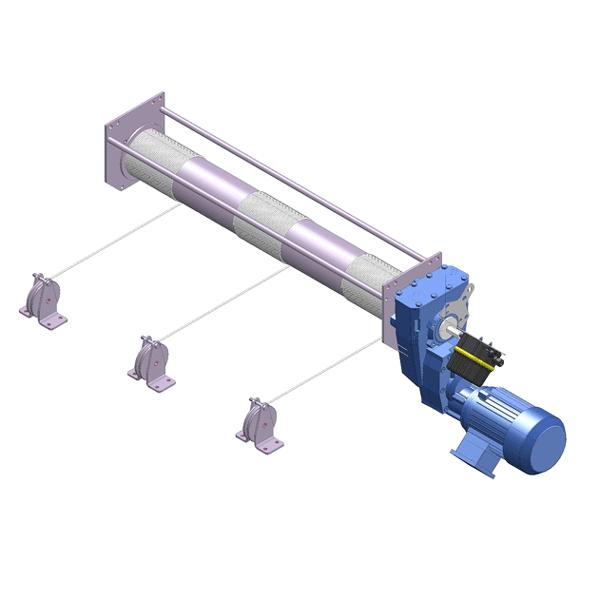 Zeichnung einer speziellen, elektrischen Hubwinde ECH-200-EGTP