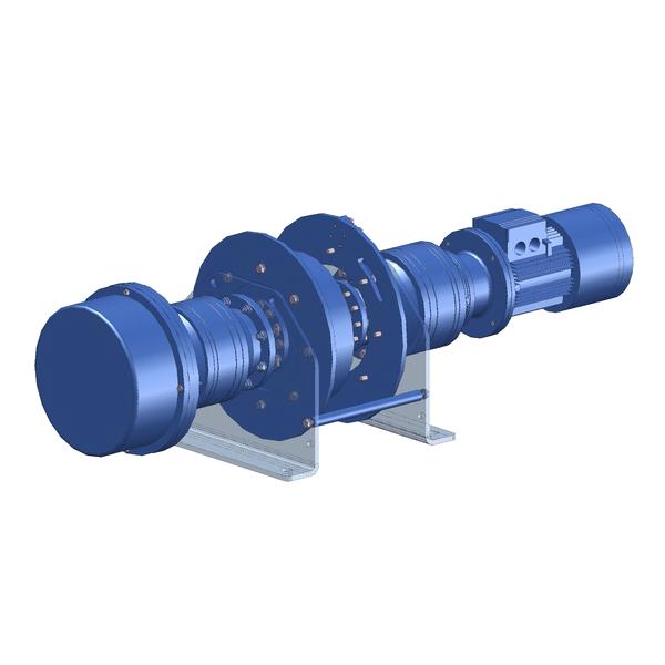 Zeichnung einer elektrischen Hubwinde EPH-1700