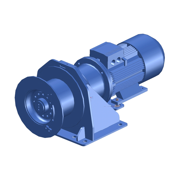 Zeichnung einer elektrischen Hubwinde EPH-2800