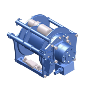 Beispiel-Zeichnung einer kompakten, hydraulischen Hubwinde