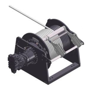 Zeichnung einer hydraulischen Hubwinde HPH-15000