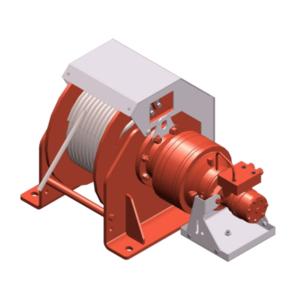 Zeichnung einer hydraulischen Hubwinde HPH-3000