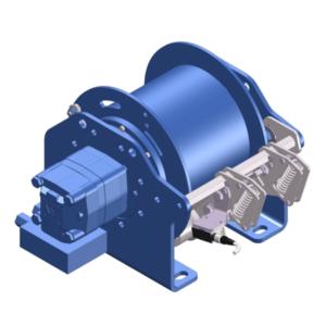 Zeichnung einer hydraulischen Hubwinde HPH-500-D