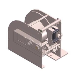 Zeichnung einer hydraulischen Hubwinde HPH-500-DO