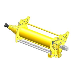 Zeichnung einer hydraulischen Hubwinde HPH-8000