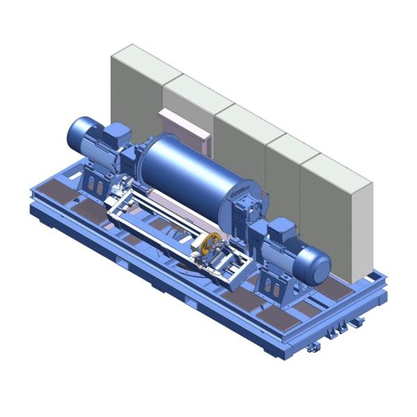Zeichnung einer elektrischen Spezialwinde ESP-5500 für ein Kitepower-Projekt