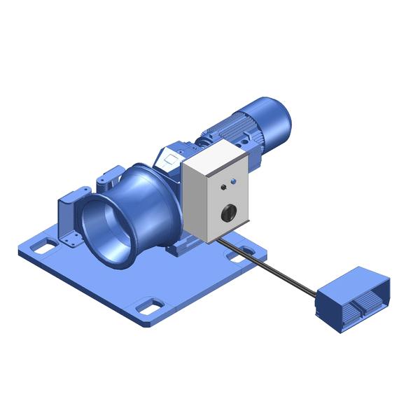 Zeichnung einer elektrischen Spillwinde ECK-750