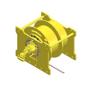 Zeichnung einer hydraulischen Pfahlankerwinde HPS-20000