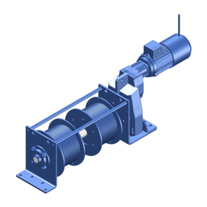 Zeichnung einer elektrischen Zugwinde / Verholwinde ECV-750 ATEX