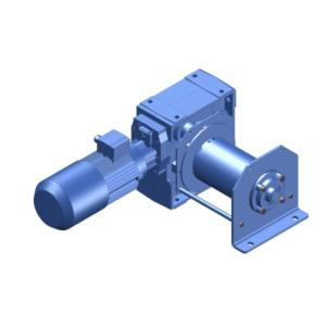 Zeichnung einer elektrischen Zugwinde / Verholwinde ECV-990