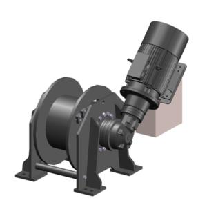 Zeichnung einer elektrischen Zugwinde / Verholwinde EPV-11000