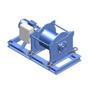 Zeichnung einer elektrische Zugwinde / Verholwinde EPV-15000