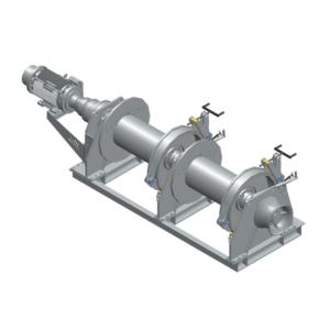Zeichnung einer elektrischen Zugwinde / Verholwinde EPV-25000