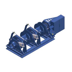 Zeichnung einer elektrischen Zugwinde / Verholwinde EPV-30000