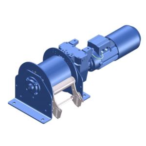 Zeichnung einer elektrischen Zugwinde / Verholwinde EPV-500