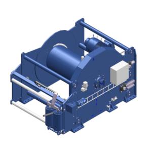 Zeichnung einer elektrischen Zugwinde / Verholwinde EPV-50000