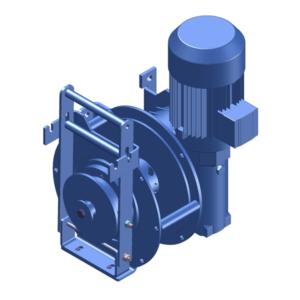 Zeichnung einer elektrischen Zugwinde / Verholwinde EWV-500