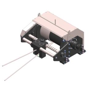 Zeichnung einer hydraulischen Zugwinde / Verholwinde HPV-15000-O