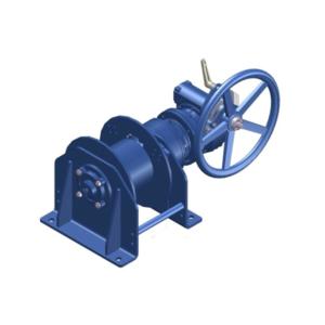 Zeichnung einer manuellen Zugwinde / Verholwinde MPV-2000