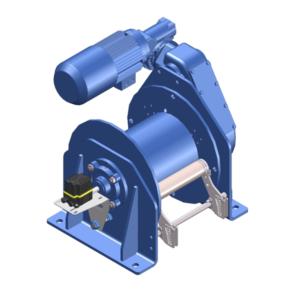 Zeichnung einer elektrischen Zugwinde / Verholwinde EPV-1500