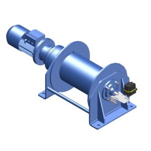 Zeichnung einer elektrischen Zugwinde / Verholwinde EPV-2400