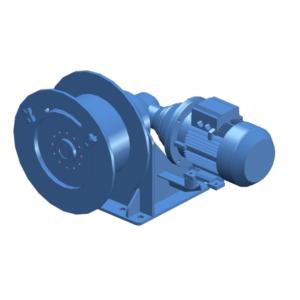 Zeichnung einer elektrischen Zugwinde / Verholwinde EPV-4000