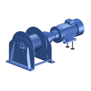 Zeichnung einer elektrischen Zugwinde / Verholwinde EPV-4100