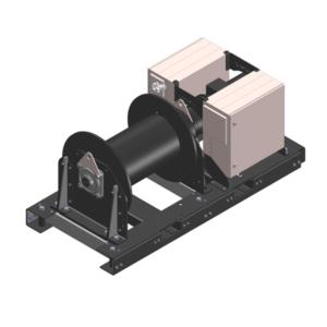 Zeichnung einer elektrischen Zugwinde / Verholwinde EPV-7500