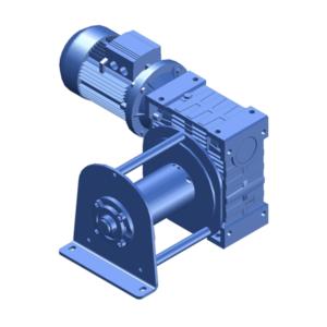 Zeichnung einer elektrischen Zugwinde / Verholwinde EWV-1500