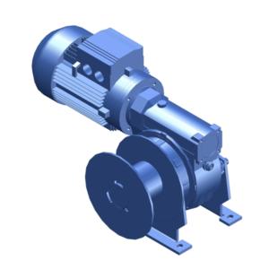 Zeichnung einer elektrischen Zugwinde / Verholwinde EWV-650