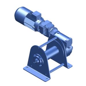 Zeichnung einer elektrischen Zugwinde / Verholwinde EWV-750