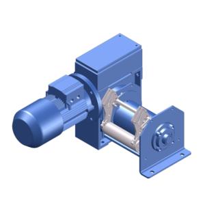 Zeichnung einer elektrischen Zugwinde / Verholwinde EWV-990